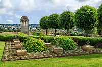 France, Indre-et-Loire (37), Amboise, château d'Amboise, jardin d'Orient, conçu en 2005 par Rachid Koraïchi en l'honneur des compagnons de l'émir Abd El Kader