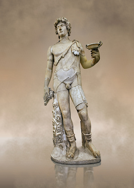 Roman marble sculpture of Antinous as Bacchus, a 2nd century AD, inv no 6314 - Farnese Collection, Naples Archaeological Muueum