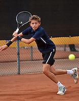 August 8, 2014, Netherlands, Rotterdam, TV Victoria, Tennis, National Junior Championships, NJK,  Amadatus Admiraal (NED)<br /> Photo: Tennisimages/Henk Koster