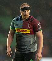 Harlequins' James Chisholm<br /> <br /> Photographer Bob Bradford/CameraSport<br /> <br /> European Rugby Challenge Cup Pool 5 - Harlequins v Benetton Treviso - Saturday 15th December 2018 - Twickenham Stoop - London<br /> <br /> World Copyright © 2018 CameraSport. All rights reserved. 43 Linden Ave. Countesthorpe. Leicester. England. LE8 5PG - Tel: +44 (0) 116 277 4147 - admin@camerasport.com - www.camerasport.com