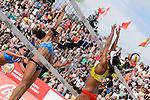 31.05.2015, Moskau, Vodny Stadion<br /> Moskau Grand Slam, Main Draw / Spiel Platz 3/4<br /> <br /> Angriff Marta Menegatti (#1 ITA) - Block Fan Wang (#1 CHN)<br /> <br />   Foto © nordphoto / Kurth