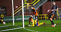 Dundee Utd's Aidan Connolly celebrates after he scores their third goal.