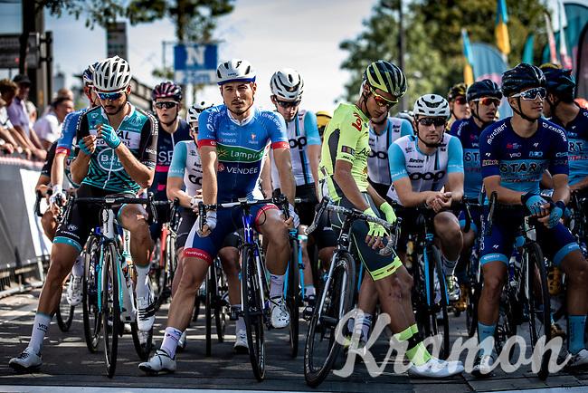 Riders ready for start. <br /> <br /> 94th Schaal Sels 2019<br /> One Day Race: Merksem  >  Merksem  (UCI 1.1)<br /> ©kramon