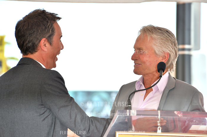 """LOS ANGELES, CA. September 13, 2018: Eric McCormack & Michael Douglas at the Hollywood Walk of Fame Star Ceremony honoring """"Will & Grace"""" star Eric McCormack."""