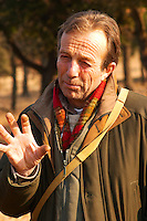Eric Jaumard, the truffle hunter at La Truffe de Ventoux truffle farm, Vaucluse, Rhone, Provence, France