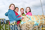 Up and away: Some of the girls who took part in the sheaf tossing contest at the Lisselton Vintage and Family Fun Day on Sunday were Tamina Shine, Listowel,  Erinna Hannon, Listowel, Casandra Cremins, Lisselton and Fiona Mahoney, Listowel.   Copyright Kerry's Eye 2008