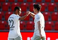 17th May 2020,Stadion An der Alten Försterei, Berlin, Germany; Bundesliga football, FC Union Berlin versus Bayern Munich; Robert Lewandowski of Bayern celebrates after his goal for 0:1 with Serge Gnabry  in the 40th minute