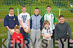 Football, just do it: Jack Joy, Sean Kissane and Brian O' Sullivan. Back row: Damien Kissane, Cathal Dowling, Eddie Horgan and Kevin Guerin all from Finuge.