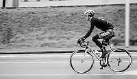 Zdenek Stybar (CZE) riding with flat tire<br /> <br /> Omloop Het Nieuwsblad 2014
