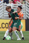 22 July 2009: Lori Chalupny (17) of Saint Louis Athletica shields the ball from Julianne Sitch (38) of Sky Blue FC.  Saint Louis Athletica defeated the visiting Sky Blue FC 1-0 in a regular season Women's Professional Soccer game at Anheuser-Busch Soccer Park, in Fenton, MO.