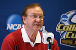 08 December 2012: Retired Indiana head coach, and father of current head coach, Jerry Yeagley, made some remarks after the press conference. The Indiana University Hoosiers held a press conference at Regions Park Stadium in Hoover, Alabama one day before playing in the 2012 NCAA Division I Men's Soccer College Cup championship game.