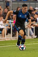 San Jose, CA - Saturday August 03, 2019: Cristian Espinoza #10 in a Major League Soccer (MLS) match between the San Jose Earthquakes and the Columbus Crew at Avaya Stadium.