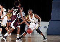 Florida International University guard Kamika Idom (14) plays against ULM. FIU won the game 65-55 on January 07, 2012 at Miami, Florida. .