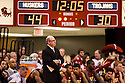 December 3, 2012: Kevin O'Neill head coach of the USC Trojans watching his players take on the Nebraska Cornhuskers at the Devaney Sports Center in Lincoln, Nebraska. Nebraska defeated USC 63 to 51.