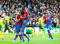 Crystal Palace players celebrating Andros Townsend goal during the Premier League match between Crystal Palace and Norwich City at Selhurst Park, London, England on 28 September 2019. Photo by Andrew Aleksiejczuk / PRiME Media Images.