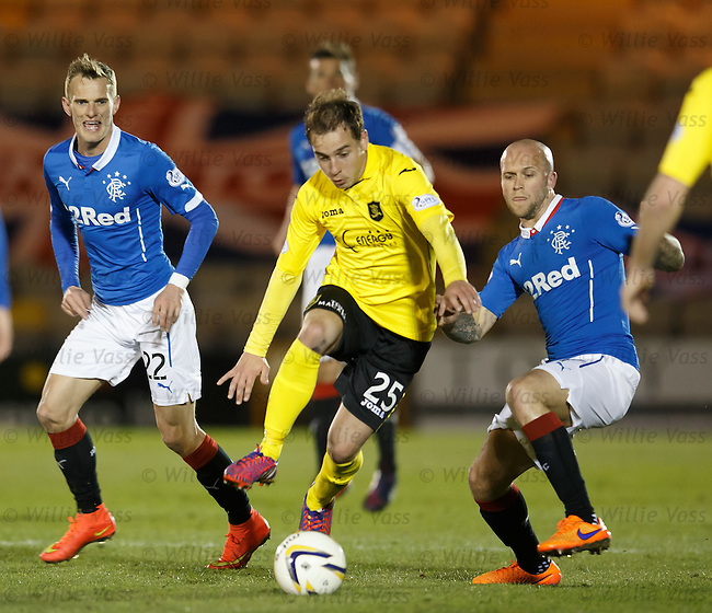 Scott Pittman with Dean Shiels and Nicky Law