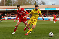 Ashley Nadesan of Crawley Town and Lewis Coyle of Fleetwood Town during Crawley Town vs Fleetwood Town, Emirates FA Cup Football at Broadfield Stadium on 1st December 2019