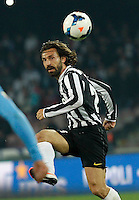 \ Andrea Pirlo  during the Italian Serie A soccer match between SSC Napoli and Juventus FC   at San Paolo stadium in Naples, March 30 , 2014
