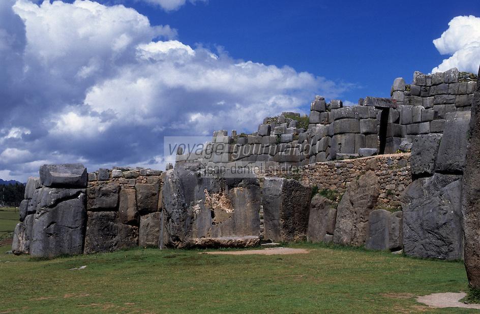 Amérique/Amérique du Sud/Pérou/Env de Cuzco : Vue du temple inca de Sacsahuaman