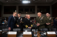 Acting Secretary of the Navy Thomas Modly, Chief of Naval Operations Admiral Michael Gilday, and Commandant of the Marine Corps General David Berger arrive to testify before the United States Senate Committee on Armed Services at the U.S. Capitol in Washington D.C., U.S., on Tuesday, December 3, 2019.  The panel discussed reports of substandard housing conditions for U.S. service members. <br /> <br /> Credit: Stefani Reynolds / CNP /MediaPunch