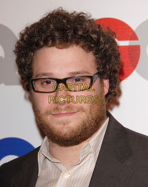 SETH ROGEN.The 2007 GQ Men of the Year Celebration at Chateau Marmont in West Hollywood, California, USA. .December 5th, 2007.headshot portrait beard facial hair glasses .CAP/DVS.©Debbie VanStory/Capital Pictures