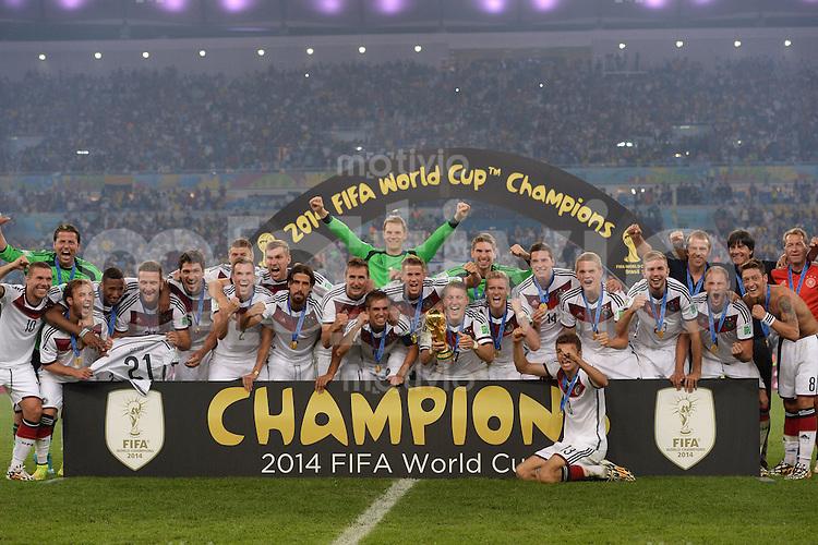 FUSSBALL WM 2014                       FINALE   Deutschland - Argentinien     13.07.2014 DEUTSCHLAND FEIERT DEN WM TITEL