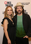 Olivia Wilde and Jason Sudeikis attends the opening night performance of the MCC Theater's 'Alice By Heart' at The Robert W. Wilson Theater Space on February 26, 2019 in New York City.