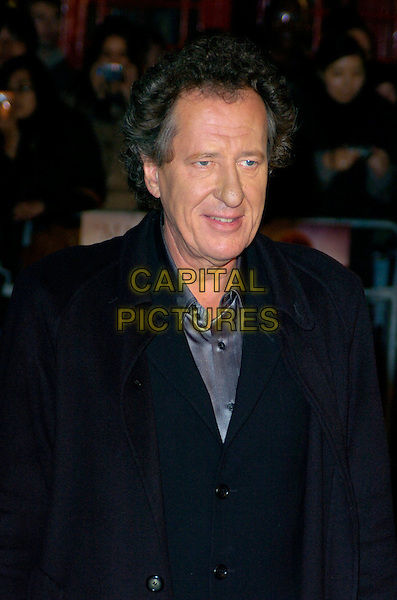 "GEOFFREY RUSH.UK Premiere of ""Elizabeth - The Golden Age"" at the Odeon Leicester Square, London, England..October 23rd 2007.half length black blue coat .CAP/CAN.©Can Nguyen/Capital Pictures"