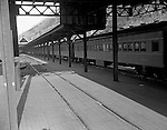 Pittsburgh PA - View of railroad passenger cars at the Pennsylvania Railroad Station in Pittsburgh - 1959.