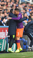 Manchester City's Danilo celebrates scoring his team's opening goal <br /> <br /> Photographer Dave Howarth/CameraSport<br /> <br /> The Premier League - Huddersfield Town v Manchester City - Sunday 20th January 2019 - John Smith's Stadium - Huddersfield<br /> <br /> World Copyright © 2019 CameraSport. All rights reserved. 43 Linden Ave. Countesthorpe. Leicester. England. LE8 5PG - Tel: +44 (0) 116 277 4147 - admin@camerasport.com - www.camerasport.com
