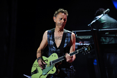 DEPECHE MODE - guitarist and keyboard player Martin Gore - performing live at the Staples Center in Los Angeles CA USA - September 28, 2013.  Photo credit; Kevin Estrada/IconicPix