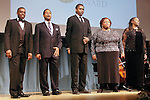 Robert Mack, Lawrence Craig, Terry Cook, Yvonne Hatchett, and Jeryl Cunningham, sing at the John Jay Justice Award ceremony, April 5 2011.