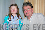 Father and daughter Megan and Kevin Quirke from Ballyfinnane enjoying the Hannah Montana concert at the Fels Point Hotel on Saturday.