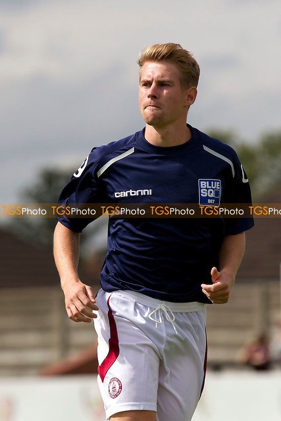 Jordan Parkes, Chelmsford City - Boreham Wood vs Chelmsford City - Blue Square Conference Football at Broughinge Road, Borehamwood, Hertfordshire - 27/08/12 - MANDATORY CREDIT: Ray Lawrence/TGSPHOTO - Self billing applies where appropriate - 0845 094 6026 - contact@tgsphoto.co.uk - NO UNPAID USE.
