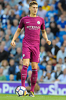 John Stones of Manchester City (5)  during the EPL - Premier League match between Brighton and Hove Albion and Manchester City at the American Express Community Stadium, Brighton and Hove, England on 12 August 2017. Photo by Edward Thomas / PRiME Media Images.