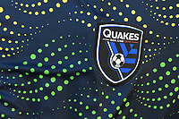 SAN JOSE, CA - JUNE 8: San Jose Earthquakes logo during a game between FC Dallas and San Jose Earthquakes at Avaya Stadium on June 8, 2019 in San Jose, California.