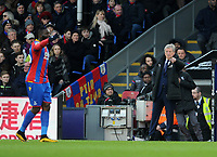 Crystal Palace manager Roy Hodgson  gives instructions to Crystal Palace's Bakary Sako<br /> <br /> Photographer Ashley Crowden/CameraSport<br /> <br /> The Premier League - Crystal Palace v Burnley - Saturday 13th January 2018 - Selhurst Park - London<br /> <br /> World Copyright &copy; 2018 CameraSport. All rights reserved. 43 Linden Ave. Countesthorpe. Leicester. England. LE8 5PG - Tel: +44 (0) 116 277 4147 - admin@camerasport.com - www.camerasport.com