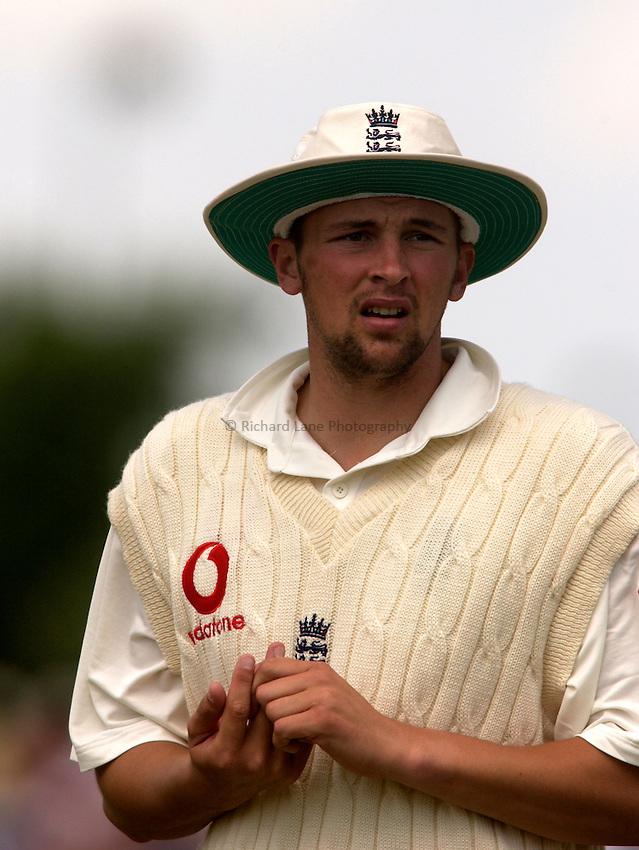 .Photo. Jed Wee.England v Zimbabwe, NPower Summer Test, The Riverside, Chester le Street. 07/06/2003..England's Steve Harmison.