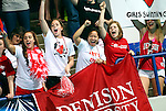24 MAR 2012:  Denison University fans cheer during the Division III Mens and Womens Swimming and Diving Championship held at the IU Natatorium in Indianapolis, IN.  Michael Hickey/NCAA Photos