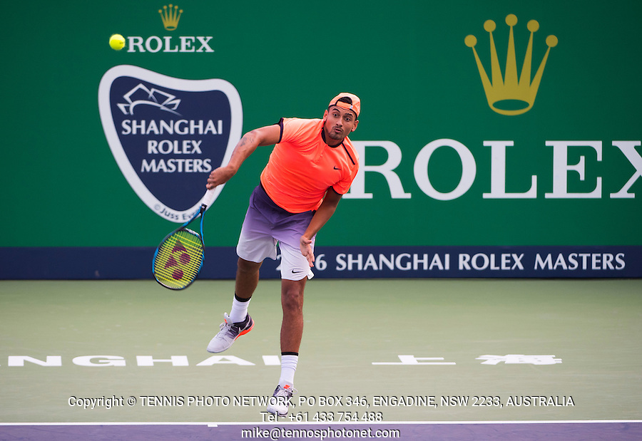 NICK KYRGIOS (AUS)<br /> <br /> TENNIS - ROLEX SHANGHAI MASTERS - QI ZHONG TENNIS CENTER - MINHANG DISTRICT - SHANGHAI - CHINA - ATP 1000 - 2016  <br /> <br /> <br /> <br /> &copy; TENNIS PHOTO NETWORK