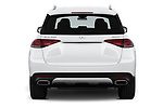 Straight rear view of 2020 Mercedes Benz GLE 350 5 Door SUV Rear View  stock images