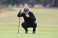 Soren Kjeldsen (DEN) on the 13th green during Round 3 of the Sky Sports British Masters at Walton Heath Golf Club in Tadworth, Surrey, England on Saturday 13th Oct 2018.<br /> Picture:  Thos Caffrey | Golffile