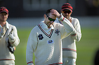 Todd Astle is applauded for his 300th wicket milestone at the end of day three of the Plunket Shield cricket match between the Wellington Firebirds and Canterbury at Basin Reserve in Wellington, New Zealand on Thursday, 31 October 2019. Photo: Dave Lintott / lintottphoto.co.nz