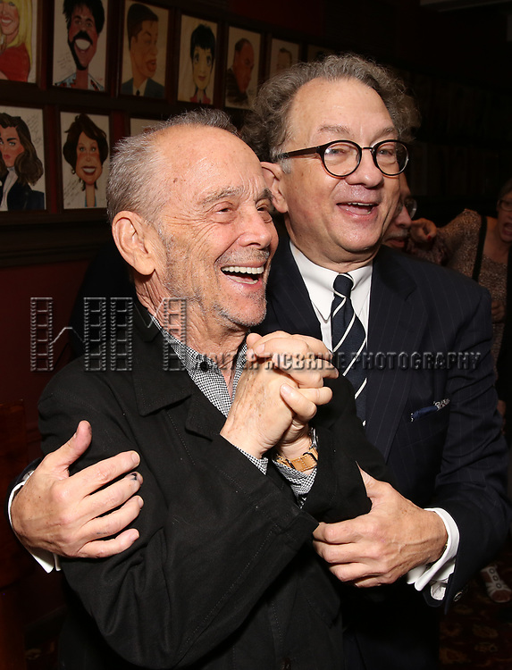 Joel Grey and William Ivey Long attends the William Ivey Long Sardi's portrait unveiling and 70th Birthday Party at Sardi's Restaurant on August 30, 2017 in New York City.