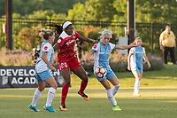 Boyds, MD - Saturday June 03, 2017:  Camille Levin, Rachel Daly, Cheyna Williams during a regular season National Women's Soccer League (NWSL) match between the Washington Spirit and the Houston Dash at Maureen Hendricks Field, Maryland SoccerPlex