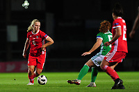 Elise Hughes of Wales in action during the UEFA Womens Euro Qualifier match between Wales and Northern Ireland at Rodney Parade in Newport, Wales, UK. Tuesday 03, September 2019