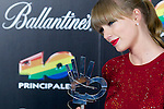 MADRID, SPAIN - JANUARY 24:  Taylor Swift poses at the press room during '40 Principales Awards' 2012 at the Palacio de Deportes on January 24, 2013 in Madrid, Spain.  (Photo by Juan Naharro Gimenez)
