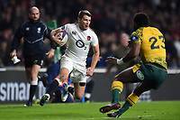 Richard Wigglesworth of England in possession. Quilter International match between England and Australia on November 24, 2018 at Twickenham Stadium in London, England. Photo by: Patrick Khachfe / Onside Images