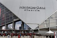 ATLANTA, Georgia - August 27: Fans entering the 2019 U.S. Open Cup Final between Atlanta United and Minnesota United at Mercedes-Benz Stadium on August 27, 2019 in Atlanta, Georgia.