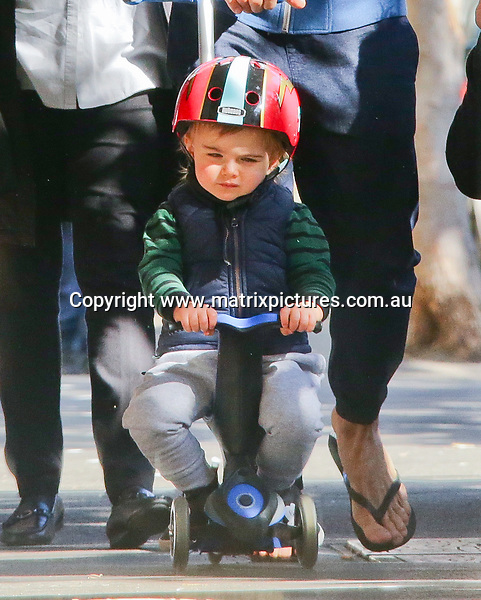 07 SEPTEMBER 2017 SYDNEY AUSTRALIA<br /> WWW.MATRIXNEWS.COM.AU<br /> <br /> EXCLUSIVE PICTURES<br /> <br /> Axle Willis spotted on His Tricycle with his Dad Steve/Commando Willis in Sydney.<br /> <br /> <br /> Note: All editorial images subject to the following: For editorial use only. Additional clearance required for commercial, wireless, internet or promotional use.Images may not be altered or modified. Matrix Media Group makes no representations or warranties regarding names, trademarks or logos appearing in the images.